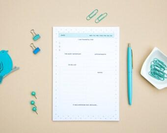 Gratitude planner, daily gratitude planner, gratitude journal, gratitude calendar, happiness planner. Gratitude planner pad, gratitude book