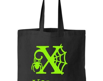 Halloween, Personalized Halloween Bags, Candy Bags, trick or treat, halloween bags,