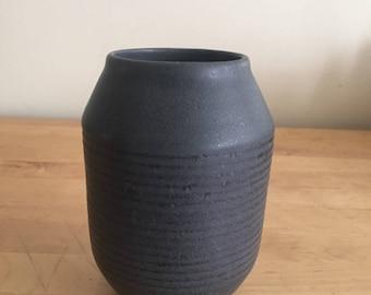 Medium charcoal vase