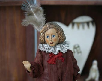 ooak bjd art doll wooden doll Little Artist