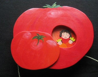 Tomato, movable wooden kitchen decoration vegetables