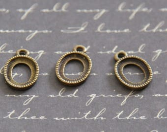 3 mini Locket charms to decorate bronze 12x10mm