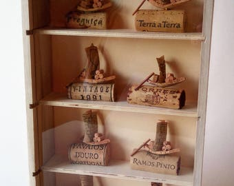 Small Bookcase with Rebelo Boats