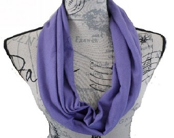 Infinity Scarf-FREE GIFT BAG included!-Mauve Scarf-Stretch Jersey Fabric-Very Comfortable-Gift Idea