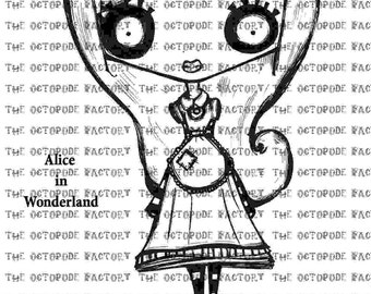 INSTANT DOWNLOAD Alice Digital Stamp