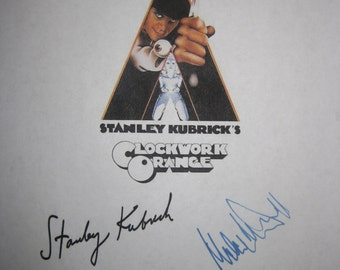 A Clockwork Orange Signed Film Movie Screenplay Script Autograph Stanley Kubrick Malcolm McDowell classic signatures