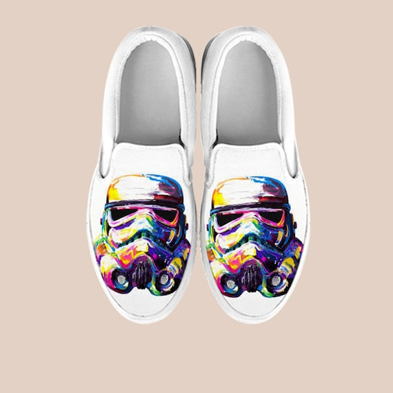 Darth Wars Star Art Star Star Shoes Wars Shoes Wars Wars Custom on Slip Shoes Slip On Shoes Stormtrooper Vans Gift Unisex Vader Star pqHtOg
