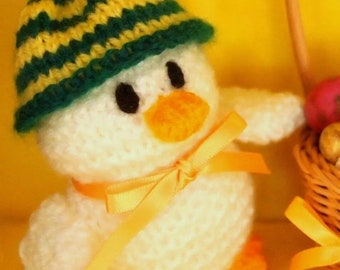 Hand knitted Duck