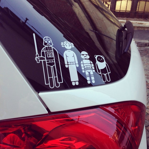 Custom Star Wars Stick Figure Family Vinyl Car Decals FREE - Create car decals