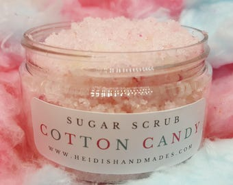 Cotton Candy Sugar Scrub - Exfoliating Sugar Scrub - Cotton Candy Scrub