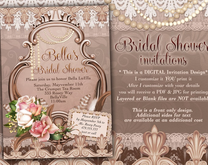Bridal Shower Invitation, Shower Invitations, Birthday Invitations