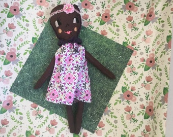 "Vintage inspired rag doll.  16 1/2"" tall"