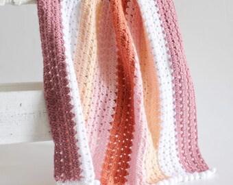 Crochet Modern Boho Granny Blanket Pattern