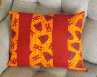 Pillow Cover-Red Mask - African