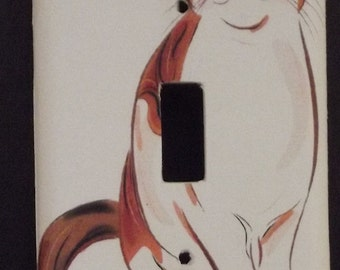 Orange Tabby Cat Switchplate Cover - Free Shipping - 1030ANML