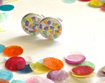 Kids Clip On  Earrings - Child - Sprinkles - Earrings - Clip-ons - Polymer Clay - hand moulded  - Ear - Clay - Kids jewellery - Circles -