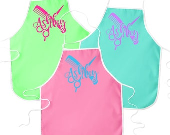 Personalized Hair Stylist Design Apron - Choose Your Colors - Design Your Own
