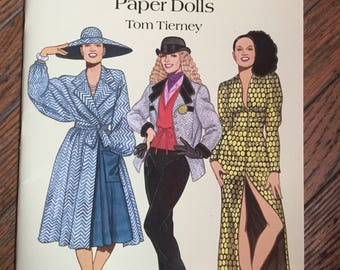 Vintage 1995 Fashion Designs of the Seventies Paper Dolls Book Tom Tierney