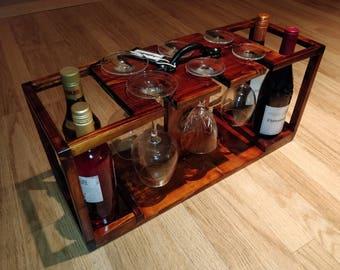 Handmade wine caddy