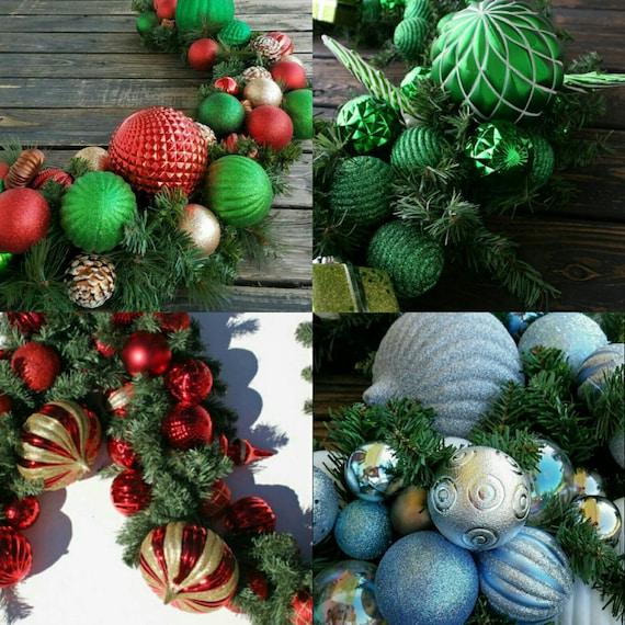 Christmas Garland, Holiday Garland, Mantel Garland, Fireplace Garland, Custom 6 Foot Pine Garland With Ornaments