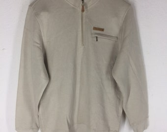 RARE!!! Vintage 90's LYLE & SCOTT sweatshirt embroidered small logo.. half button..vintage sweatshirt..Size L