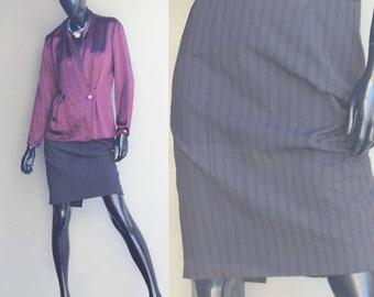 Vintage Pencil Skirt, Striped US Size 4