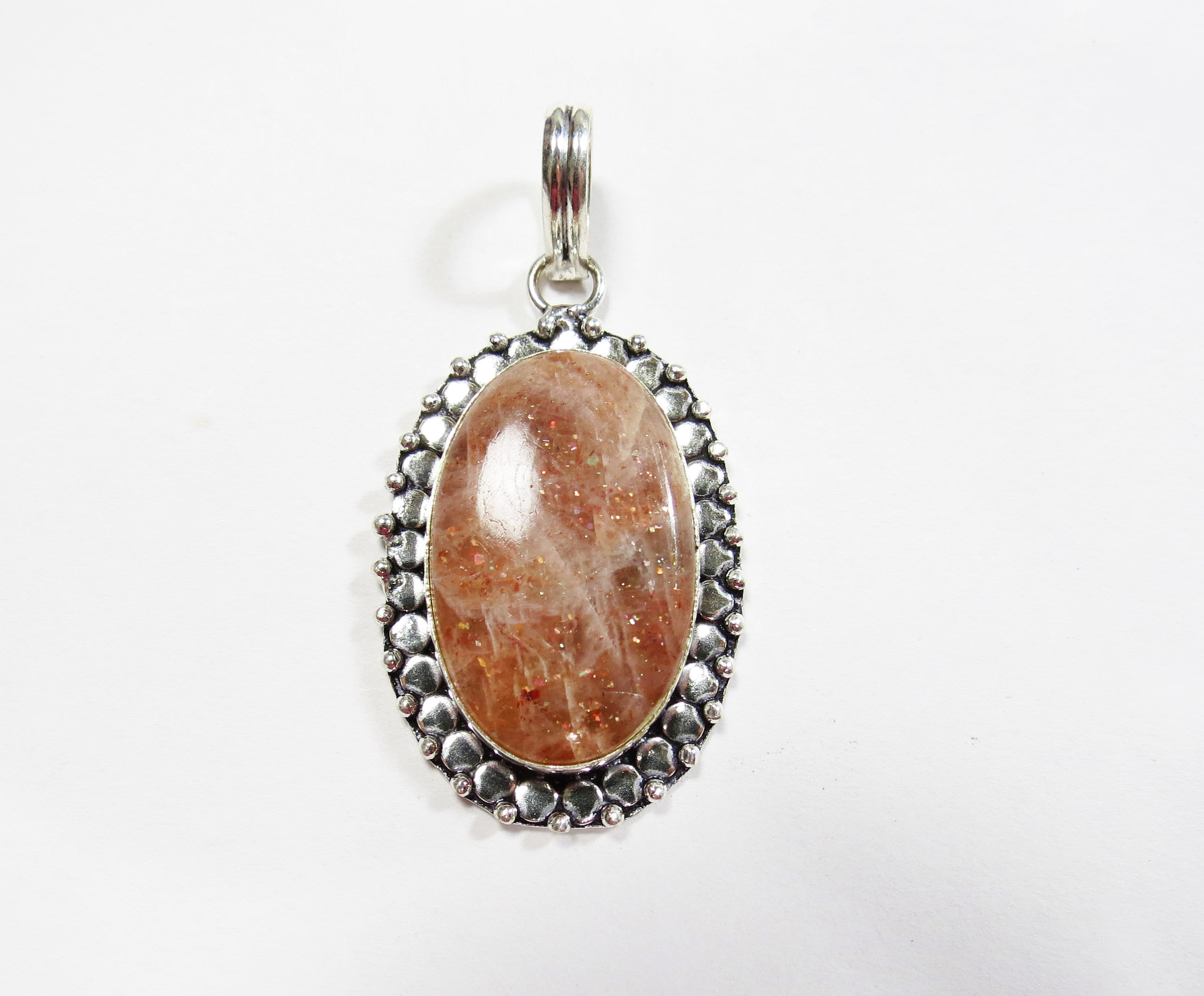 x product sterling pendant silver topaz vintage with in sunstone imperial zircon brown and medallion