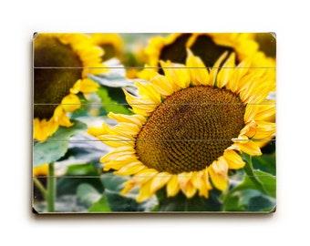 Wood Sign, Sunflowers Wood Plank Art, Kitchen Art Decor, Floral Wood Art, Sunflower Wall Art, Wood Wall Art, Sunflowers Yellow Kitchen Decor