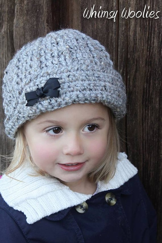 Crochet Hat Pattern: Boys/Girls Hat, Crochet Beanie, Newborn to ...
