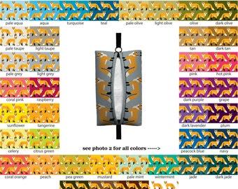 Auto Sneeze - Fox - PICK YOUR COLOR - Visor Tissue Case/Cozy - Car Accessory Automobile woodland animal forest