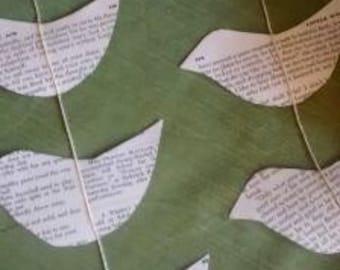 Vintage Paper Bird Garland