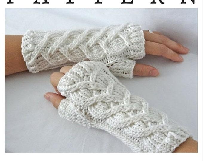 Intertwined Hearts Fingerless Glove Pattern