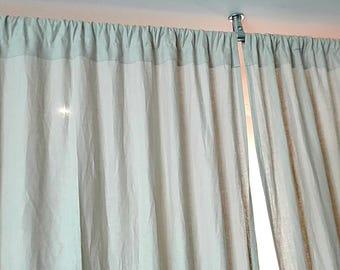Eco linen curtain.Linen curtain panel.Natural linen curtain.White linen curtain.Rod pocket curtain.linen curtains