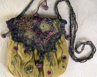 Shimmering Nights Evening Bag DOWNLOAD Pattern, Machine embroidery