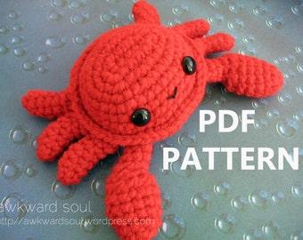 Crab Amigurumi Crochet Pattern PDF