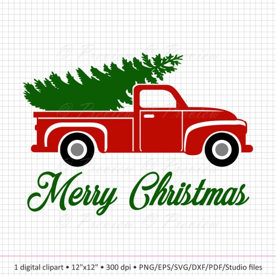 Buy 2 Get 1 Free Digital Clipart Christmas Tree Truck