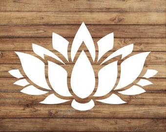 Lotus Flower Decal | Lotus Flower Sticker | Peace Decal | Yoga Decal | Lotus Decal | Car Decal | Yeti Decal | Door Decal