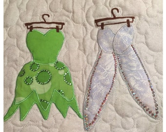 Disney Tinker Bell Dress Applique Pattern - Inspired by Disney's Peter Pan