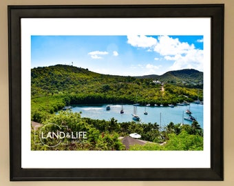 Caribbean Cove Lustre Print Artwork Wallart Landscape Photography