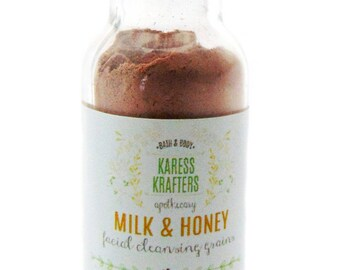 Milk & Honey Facial Cleansing Grains, Sample, Natural Facial Cleanser, Mask, Exfoliate, Botanicals, Milk and Grains, Natural Skin Care