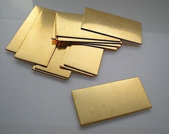 12 large flat brass rectangle stamping blanks