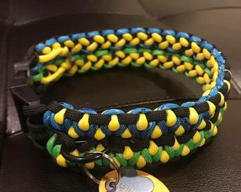 Double Wide Dragons Claw Paracord Collar