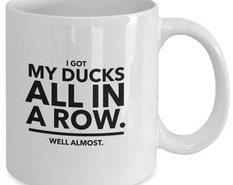 Ducks in a row -coffee mug