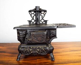 Antique Crescent Miniature Vintage Cast Iron Stove Salesmans Sample