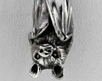 Bat Necklace,Bat Jewelry, Animal Jewelry, White Bronze,Made in NYC, Blue Bayer Design NYC