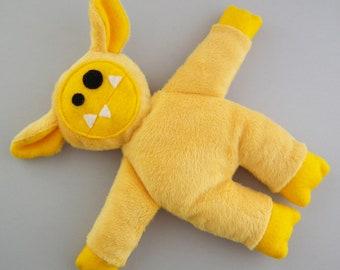 Bash - Yellow - plush monster - stuffed monster - plush toy - Plushie - Softie - Colorful plush