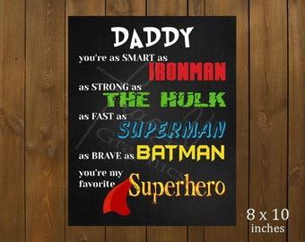 Printable Decor - Daddy Superhero