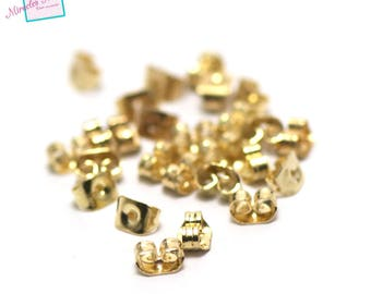 """100 corks-Stoppers """"Butterfly"""" for earring, gold"""