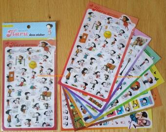 Haru deco stickers