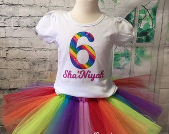 Rainbow birthday, rainbow birthday outfit, rainbow tutu, rainbow birthday party, rainbow birthday tutu, rainbow outfit